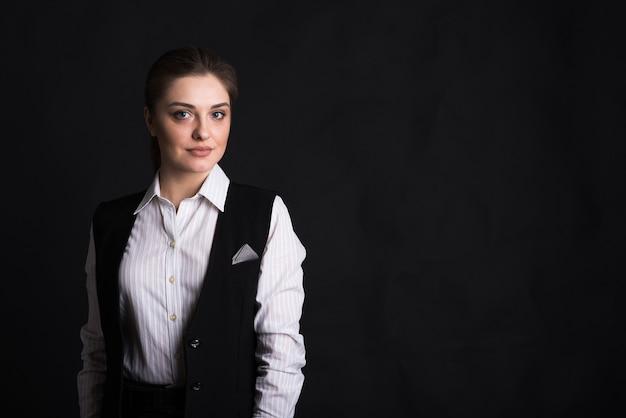 Portret kobiety biznesu pani z copyspace