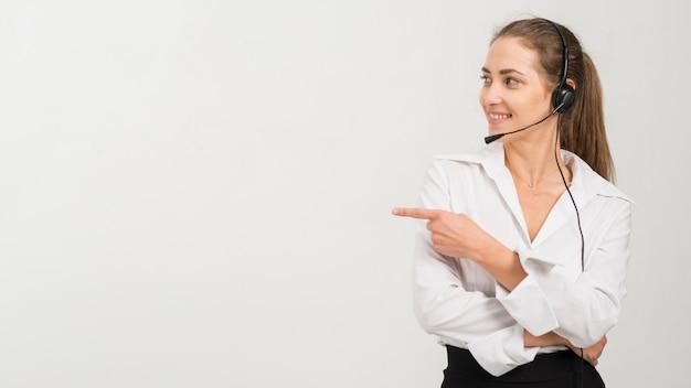 Portret kobiety centrum wywołania