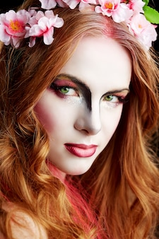 Portret kobiety elf halloween