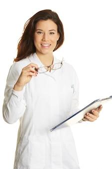 Portret kobiety lekarza