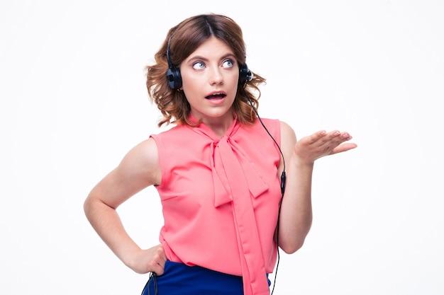 Portret kobiety operatora klienta