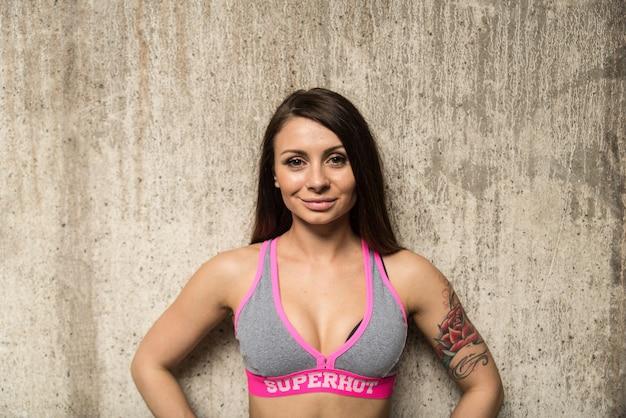 Portret kobiety sportowca
