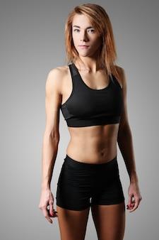 Portret kobiety sportowy