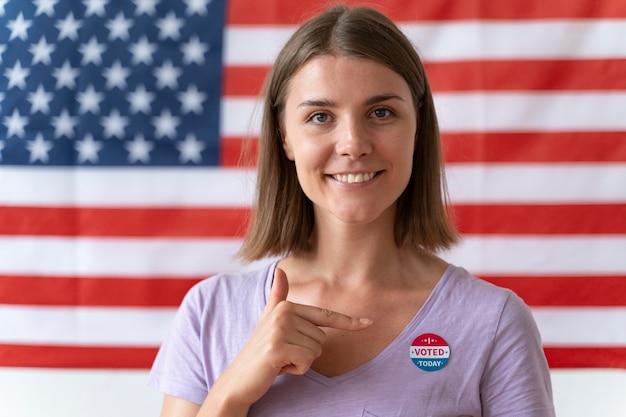 Portret kobiety w dniu rejestracji wyborców
