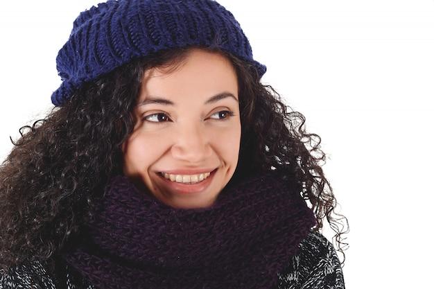 Portret kobiety w zimie