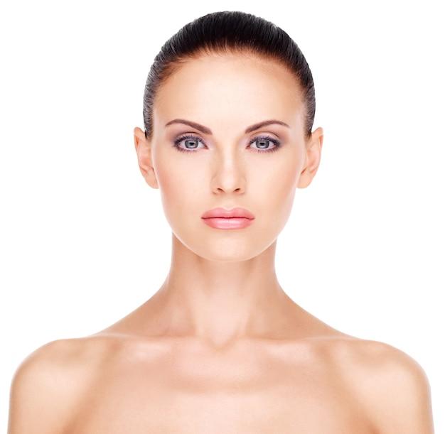 Portret kobiety z piękna twarz