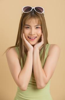 Portret kobiety z uśmiechem