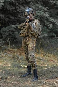 Portret kobiety żołnierza