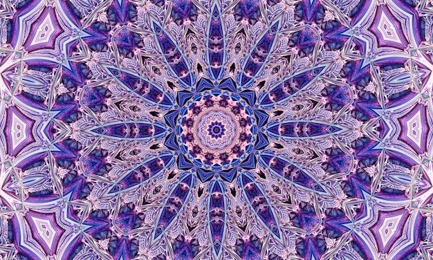 Portret ładny kwiat kalejdoskop z fioletowymi niebieskimi i białymi kolorami