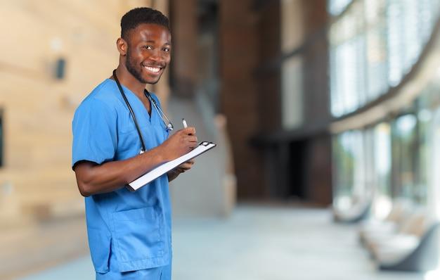 Portret lekarza afrykańskiego