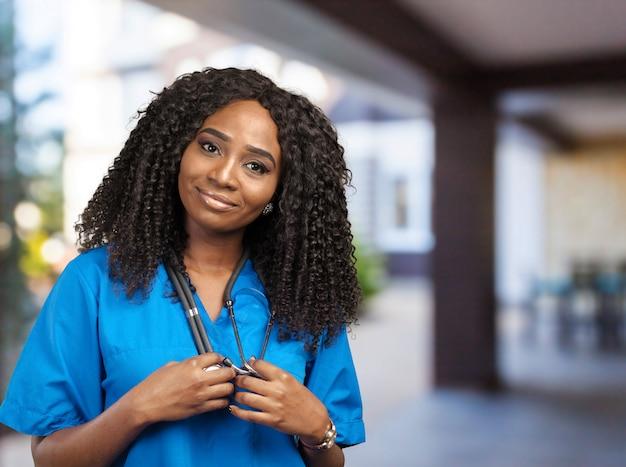 Portret lekarza afryki