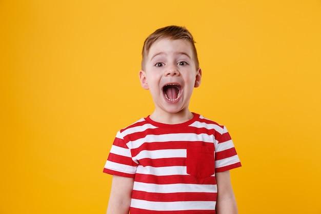 Portret małego chłopca krzyczeć