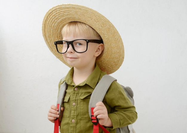 Portret małego ucznia