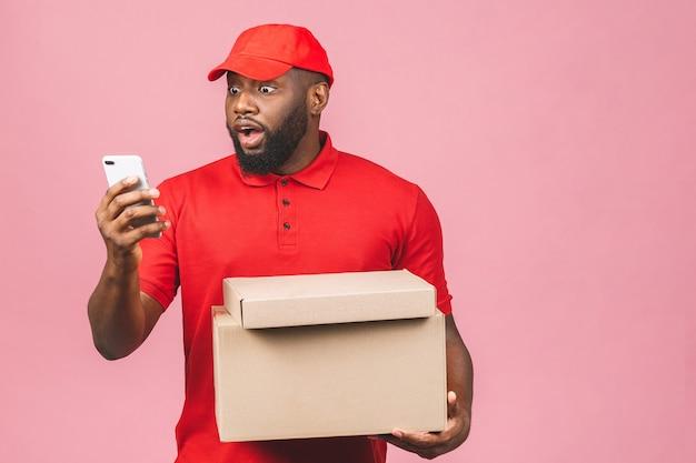 Portret mężczyzny afroamerykanów dostawy
