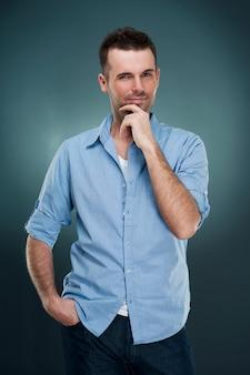 Portret mężczyzny modnego