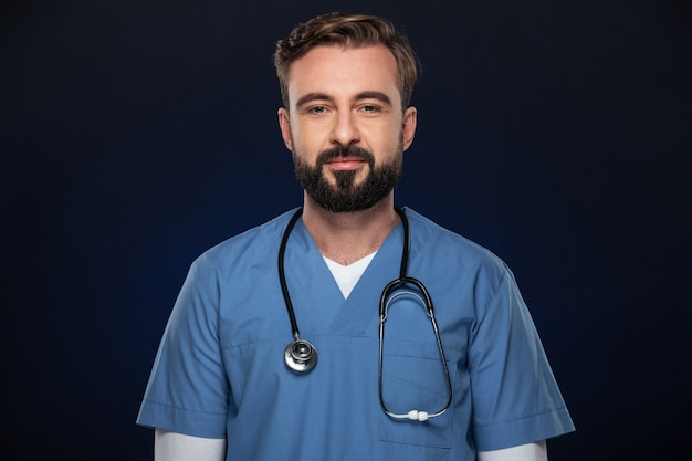 Portret mężczyzny pewność lekarza
