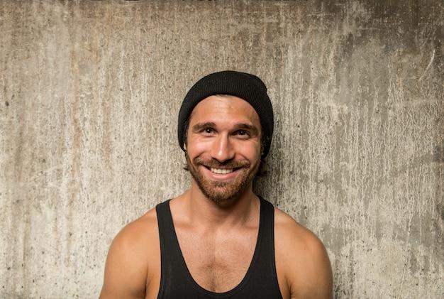 Portret mężczyzny sportowca