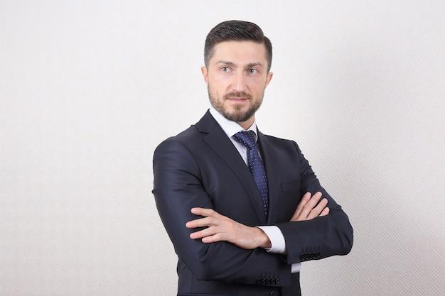 Portret mężczyzny sukcesu w biznesie
