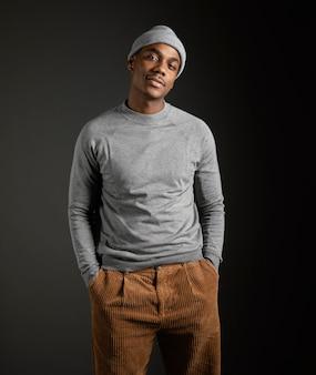 Portret mężczyzny w czapce