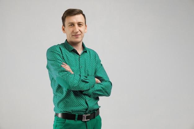 Portret mężczyzny w ubrania biznesowe