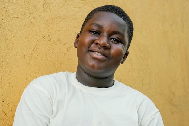 Portret młodego chłopca afrykańskiego