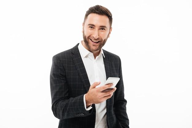 Portret młodego mężczyzny szczęśliwy