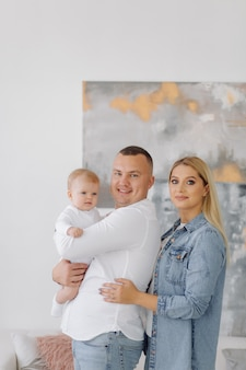 Portret młodej rodziny