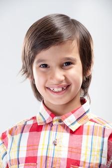 Portret modelki chłopca