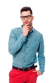 Portret modnego młodego człowieka