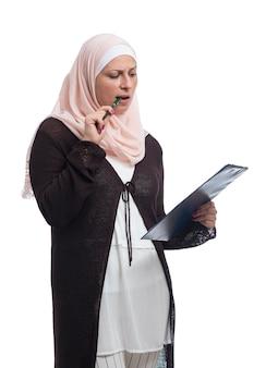 Portret muzułmańskiej kobiety