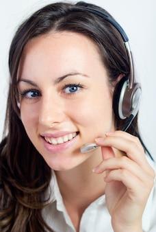 Portret operatora call center kobieta