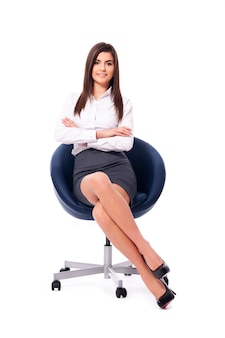 Portret piękna bizneswoman
