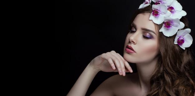 Portret piękna brunetka