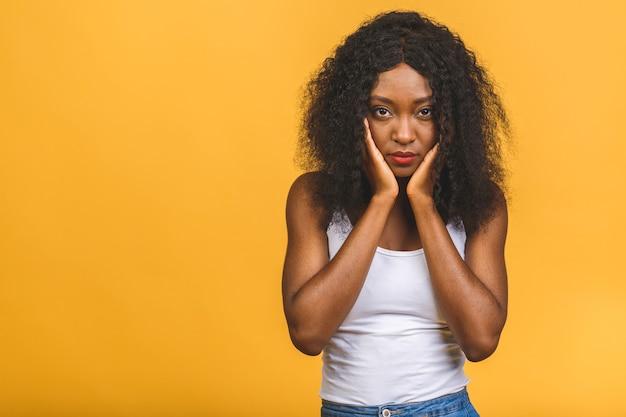 Portret pięknej kobiety african american