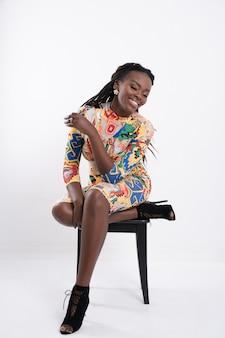 Portret pięknej kobiety afrykańskiej.