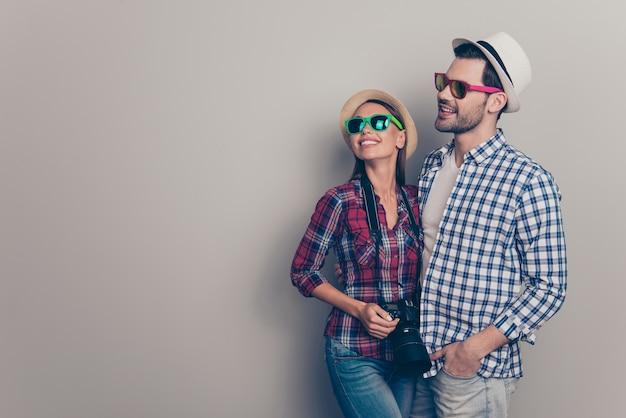 Portret pięknej młodej pary