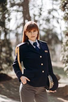 Portret pięknej policjantki