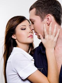 Portret pozowanie piękna para seksualne