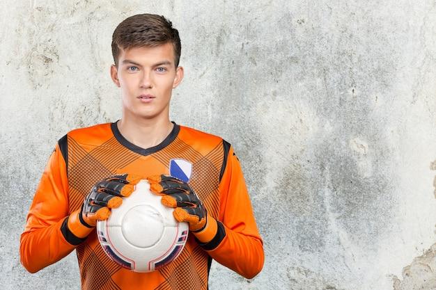 Portret profesjonalny piłkarz