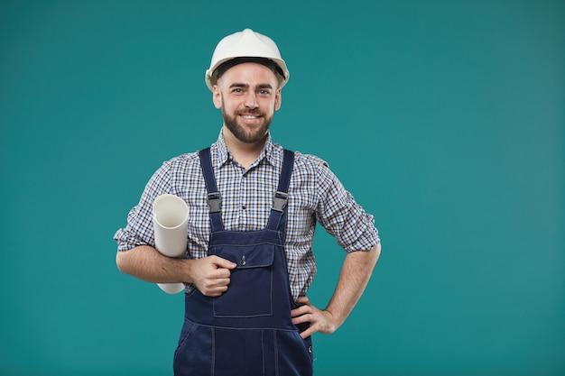 Portret przystojny mężczyzna inżynier