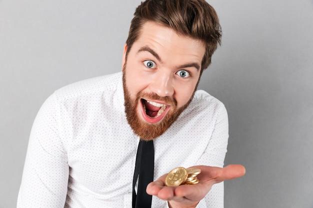 Portret radosny biznesmen