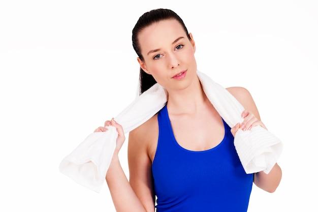 Portret sportowy atrakcyjnej kobiety