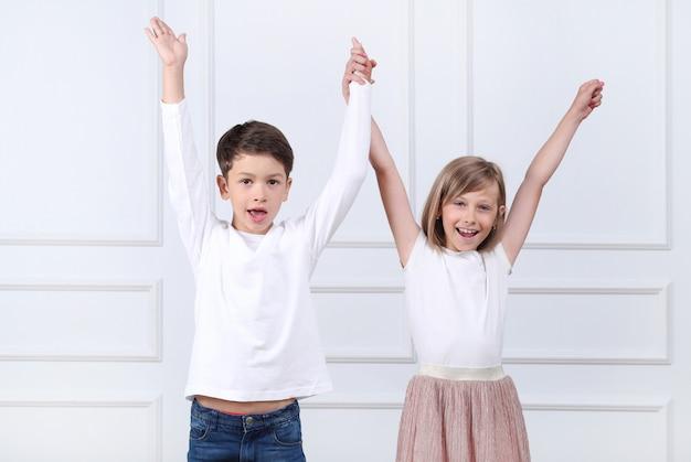 Portret szczęśliwych dzieci