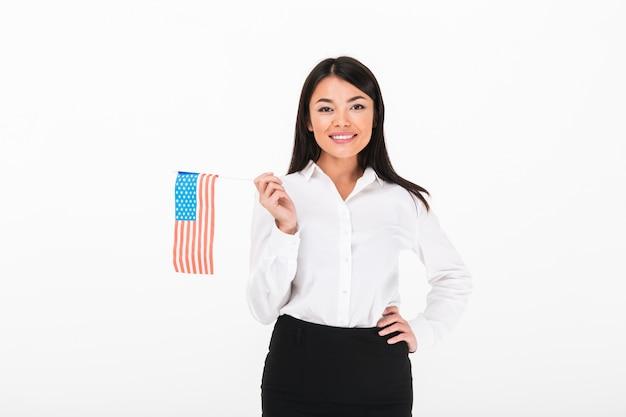 Portret uśmiechnięty azjatykci bizneswoman