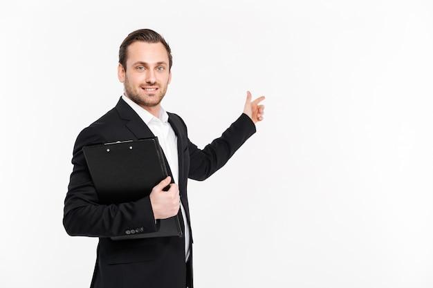 Portret Uśmiechnięty Młody Biznesmen Premium Zdjęcia