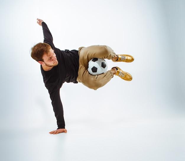 Portret wentylatora z piłką