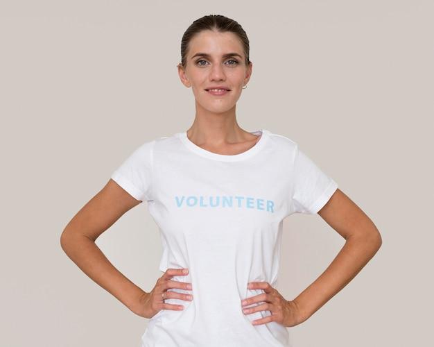 Portret wolontariusza humanitarnego