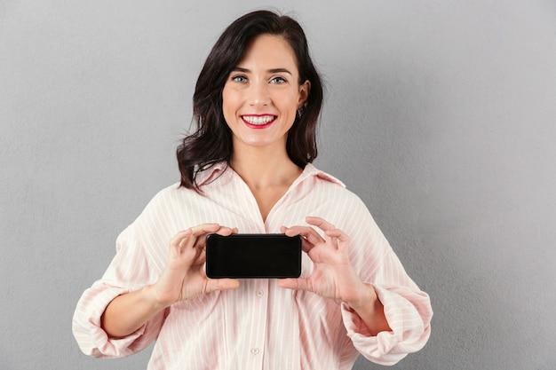 Portret zachwycony bizneswoman