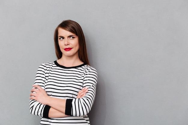 Portret zmieszanej kobiety