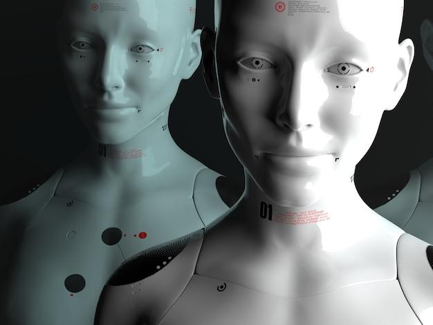 Portrety robotów z bliska